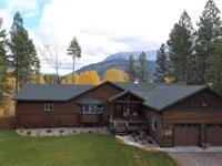 Fabulous Flathead River Home : Columbia Falls : Flathead County : Montana