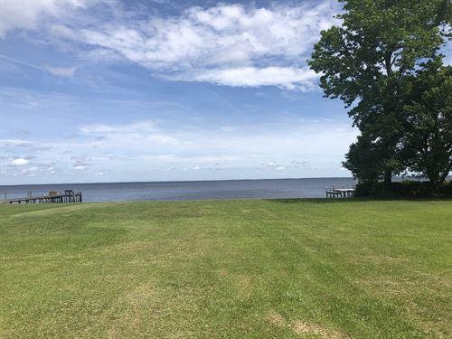 Waterfront Lot On Albemarle Sound : Roper : Washington County : North Carolina