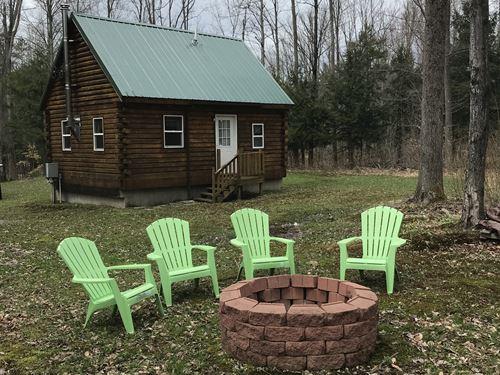 5 Ac With Beautiful Finished Cabin : Pulaski : Oswego County : New York