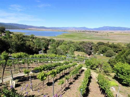Tranquil Mesa Grande Lake View Home : Santa Ysabel : San Diego County : California