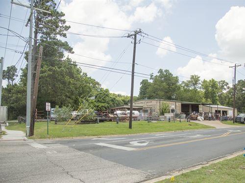 Commercial Corner Sycamore Ave : Huntsville : Walker County : Texas