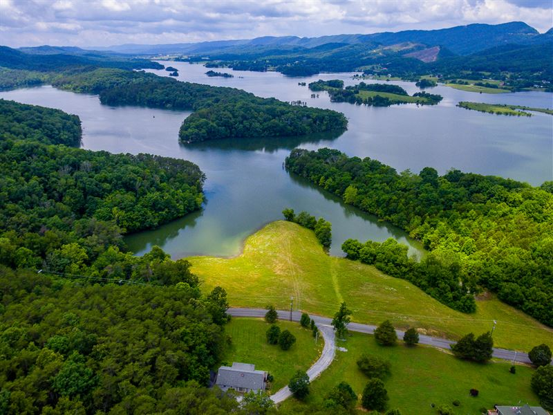 Cherokee Lake Front Home W/ 7 Acres : Bean Station : Grainger County : Tennessee