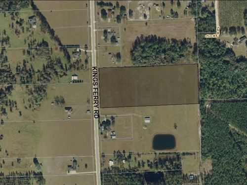 10 Acres, Kings Ferry Rd : Hilliard : Nassau County : Florida