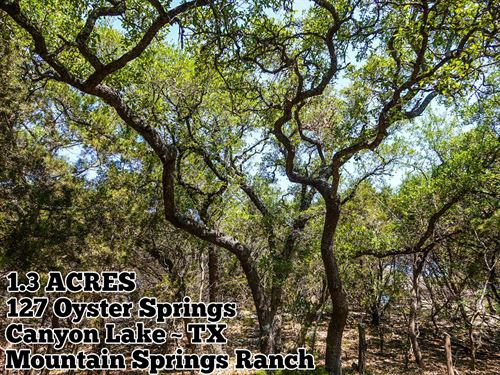 1.3 Acres In Comal County : Canyon Lake : Comal County : Texas