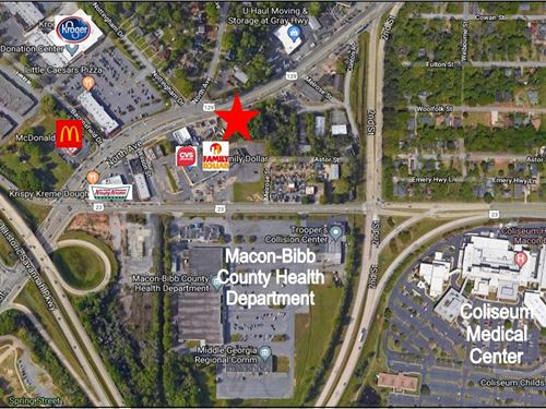 Commercial Site-High Visibility : Macon : Bibb County : Georgia