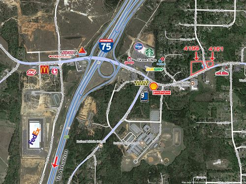 4 Acre Commercial Lot : Macon : Bibb County : Georgia