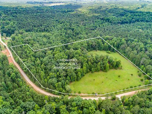 Gently Rolling Acreage W/ Creek : Shady Dale : Jasper County : Georgia