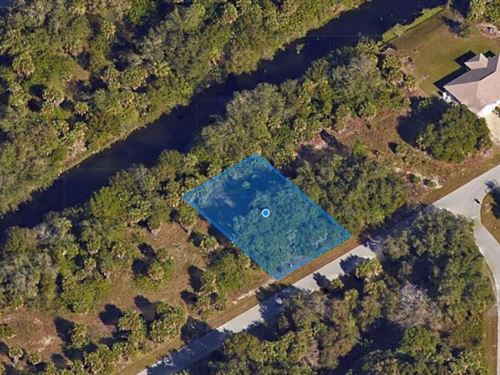 Waterfront Lot on Waterway : Port Charlotte : Charlotte County : Florida