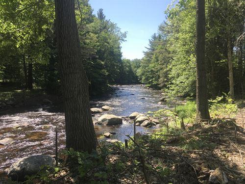 Peaceful Riverfront : Brasher Falls : New York County : New York