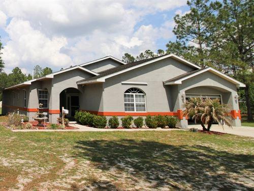 Spacious Country Home In Trenton, : Trenton : Gilchrist County : Florida