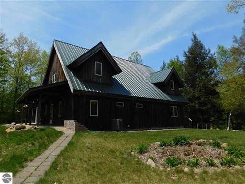 Chippewa River And Log Home : Midland : Michigan
