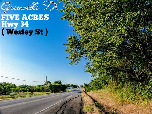 5 Acres In Hunt County : Greenville : Hunt County : Texas