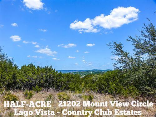 .50 Acres In Travis County : Lago Vista : Travis County : Texas