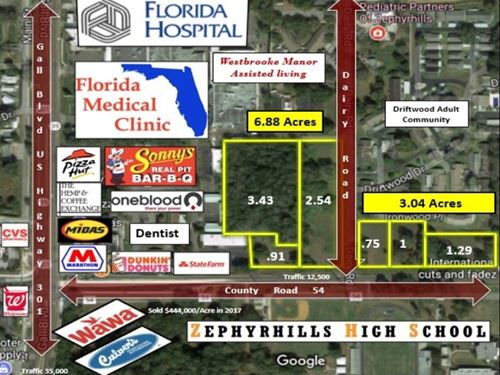Prime Commercial Site : Zephyrhills : Pasco County : Florida