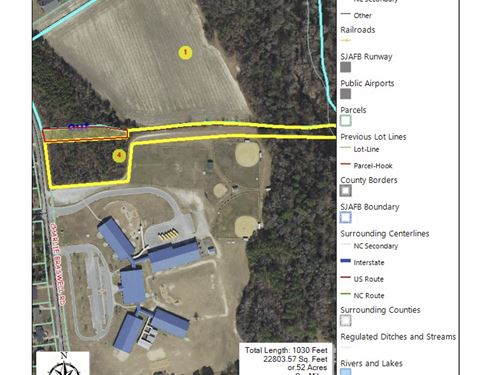 Commercial Tract Joins Grade School : Goldsboro : Wayne County : North Carolina