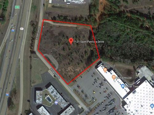Great 5.04 Acre Commercial Lot : Perry : Houston County : Georgia