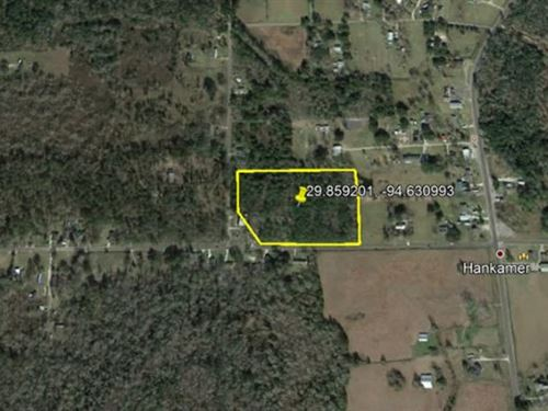 4.5 Acre Lot 1 Mile Off In Midway : Hankamer : Chambers County : Texas