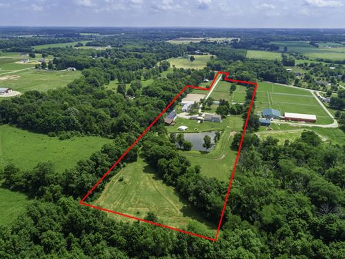 21 Stall Horse Farm W/ New Home : Westerville : Franklin County : Ohio