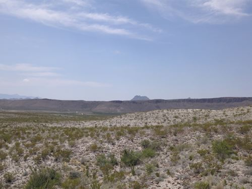 20 Acres With Lots Of Elevation : Terlingua : Brewster County : Texas