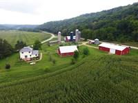Farmette & Charming Foursquare Home : Woodman : Grant County : Wisconsin