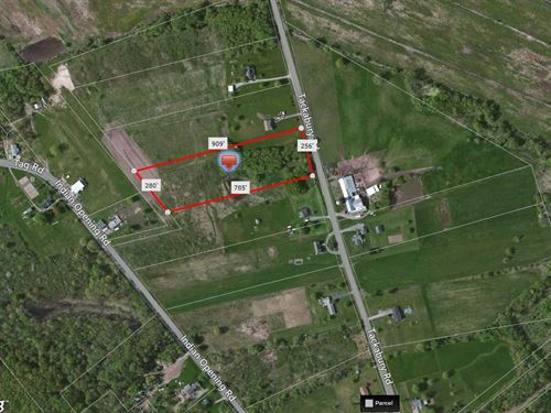 Country Home Site Ready To Build : Canastota : Madison County : New York