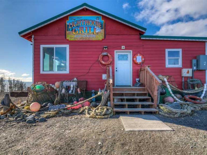 1340 Sqft, Bldg, on 1.6 Acres.180 : Homer : Kenai Peninsula Borough : Alaska
