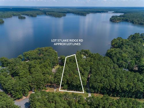Build On This Lake Oconee Lakefront : Eatonton : Putnam County : Georgia