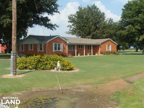 House With Two Large Barns on 2 : Stuttgart : Prairie County : Arkansas