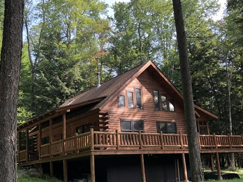 Log Cabin On Maple Lake : Forestport : New York County : New York