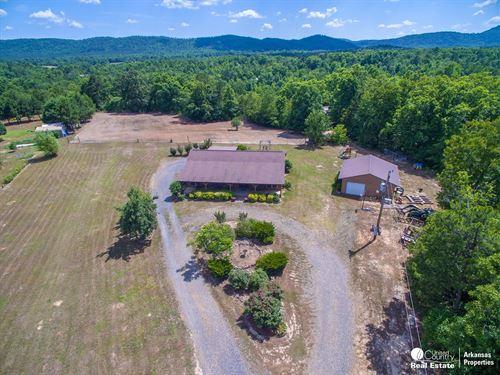 Log Sided Home Near Mena : Mena : Polk County : Arkansas