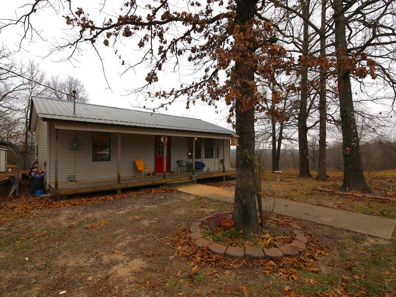 Home Acreage Spring River Arkansas : Mammoth Spring : Fulton County : Arkansas