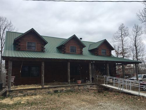 Country Home North Arkansas, Log : Ravenden Springs : Randolph County : Arkansas