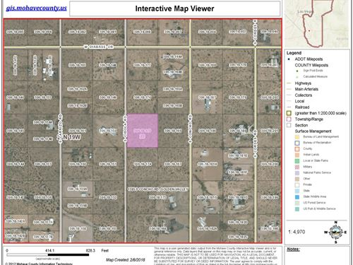 Golden Valley Acreage Land, 2.35 : Golden Valley : Mohave County : Arizona