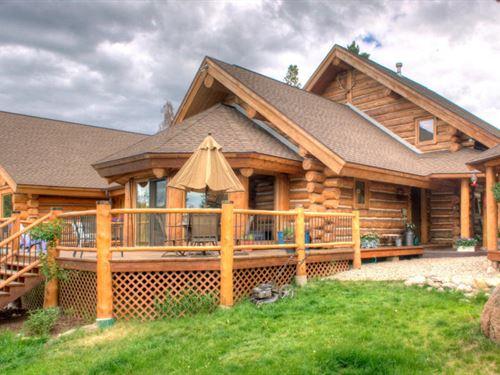 Rocky Mountain Log Home Colorado : Grand Lake : Grand County : Colorado