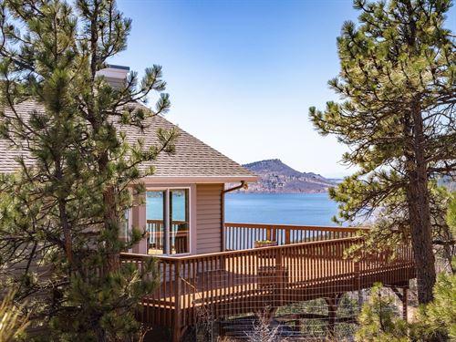 Mountain Country Home Water Views : Loveland : Larimer County : Colorado