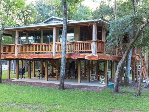 Rustic Suwannee River Retreat : Branford : Suwannee County : Florida