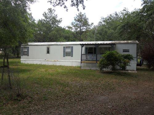 Mobile Home Peaceful Property Live : Live Oak : Suwannee County : Florida