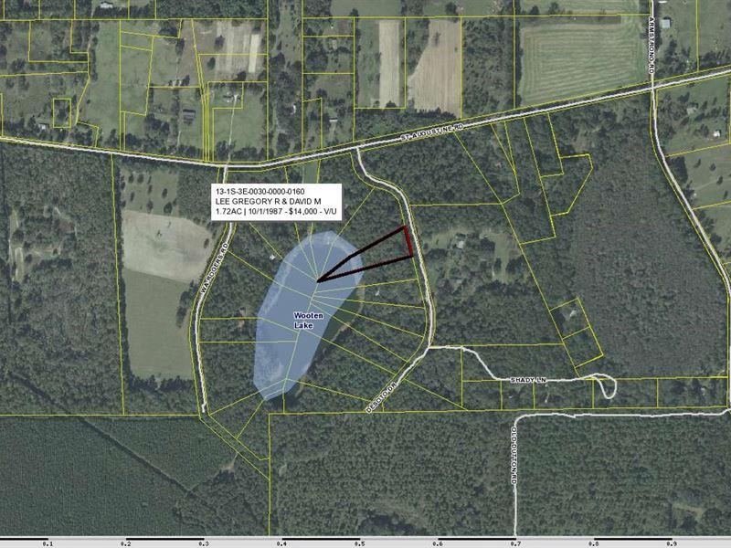 Lake Front Lots North Florida : Monticello : Jefferson County : Florida