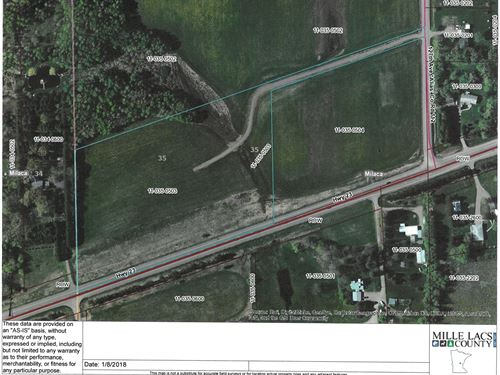 Milaca Hwy Land For Sale : Milaca : Mille Lacs County : Minnesota