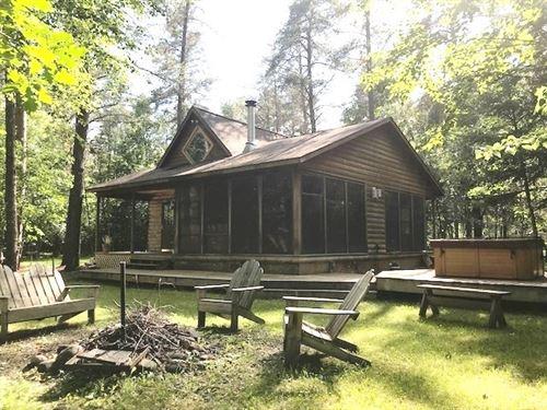 Kettle River Frtg, Yr Rd Cabin : Rutledge : Pine County : Minnesota