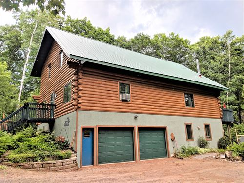 Custom Built Log Home Lord's Lake : Sturgeon Lake : Pine County : Minnesota