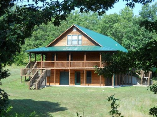 Beautiful Log Home on 5 Acres : Mountain View : Howell County : Missouri