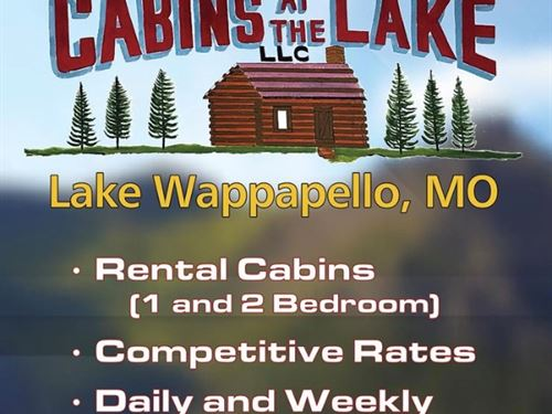 Cabins by The Lake & Laundromat : Wappapello : Butler County : Missouri