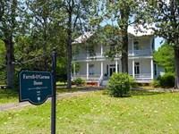 Circa 1875 Center Entrance Colonial : Blackville : Barnwell County : South Carolina