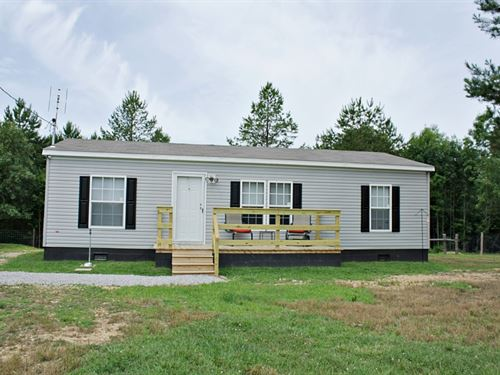 3 Bedroom 2 Bath Home 11.3 Acres : Hohenwald : Lewis County : Tennessee