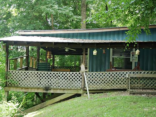 Buffalo River Front Cabin 1.2 Ac : Lobelville : Perry County : Tennessee