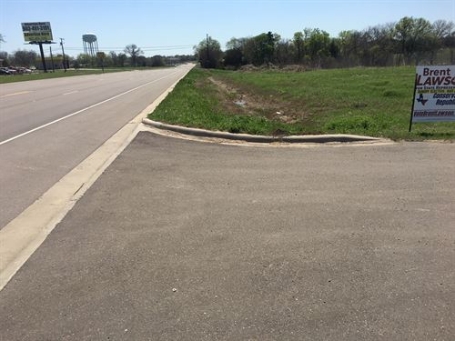 NE Texas Commercial Lot 1 Acre : Bonham : Fannin County : Texas