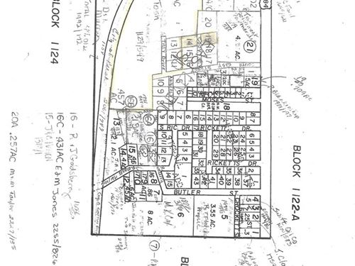 Rusk TX Residential Tract In Town : Rusk : Cherokee County : Texas