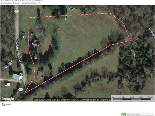 8 Acres & Two Homes In Southern VA : South Hill : Lunenburg County : Virginia