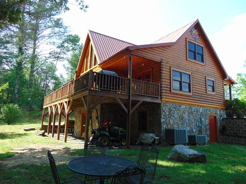 Log Cabin Grayson Co VA Mouth : Mouth Of Wilson : Grayson County : Virginia